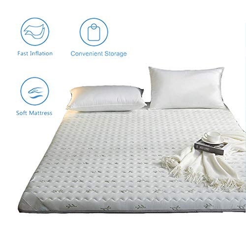 Best Buy! Thicken Tatami Mat Sleeping Pad, Futon Mattress Topper, Japanese Foldable Floor Futon Mattress, Student Dormitory Folding Mattress, Soft,White,150x200cm/59×79 inch