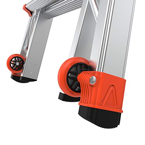 Little Giant Ladders, Revolution with Ratchet Levelers, M17, 17 ft, Multi-Position Ladder,Ratchet leg levelers, Aluminum, Type 1A, 300 lbs weight rating (12017-801)
