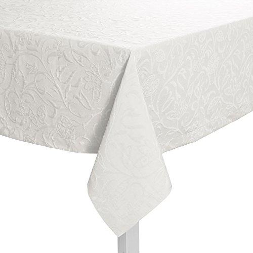 Pichler CORDOBA_130/170_BW hochwertig und bügelfrei - Tischdecke 130 x 170 cm brillantweiß