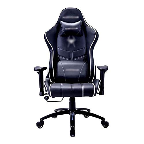 JJSFJH Gaming Sedia, ergonomica Ufficio Poltrona reclinabile, Comoda Sedia di Parte Girevole, 9 Centimetri in Altezza Regolabile Sedia con braccioli Gaming And Wheels (Color : Blue)