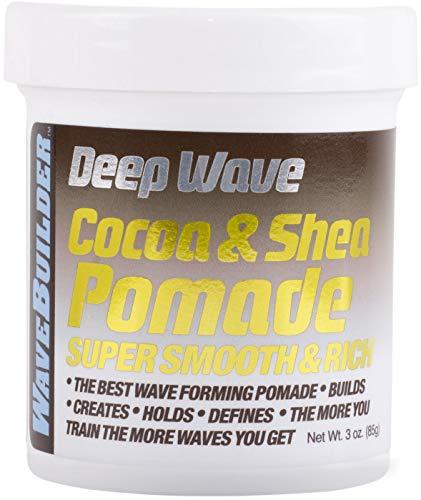 WaveBuilder Cocoa & Shea Pomade | Super Smooth & Rich Formula Promotes Healthy Hair Waves, 3 Oz