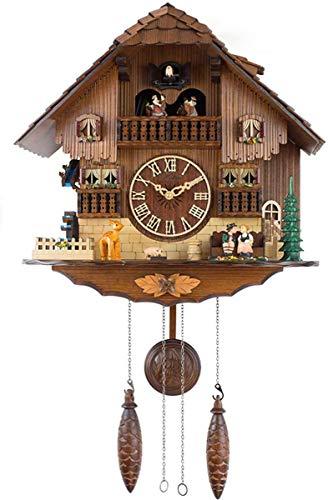 HIGHKAS Reloj de Cuco, Reloj de Cuco de Cuarzo, casa de la S