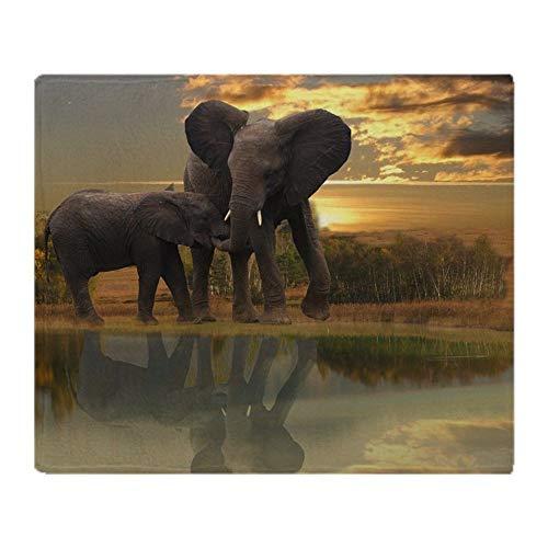 YISUMEI Decke 150x200 cm Kuscheldecken Sanft Flanell Weich Fleecedecke Bettüberwurf Mutter Elefant Kind