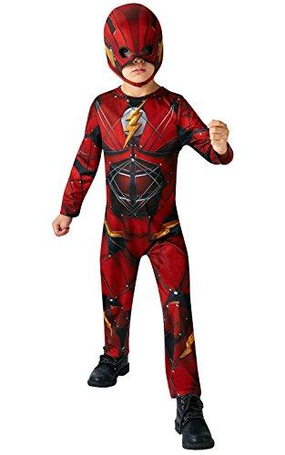 Rubie's - Costume di Carnevale per bambini, soggetto: Flash, costume ufficiale di Justice League