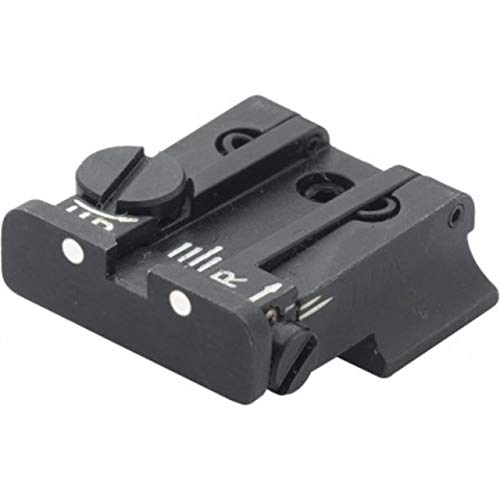 LPA TPU Adjustable Rear White Dot Sight Set for CZ 75 & CZ 85 New Model, Black, TPU57ZC30