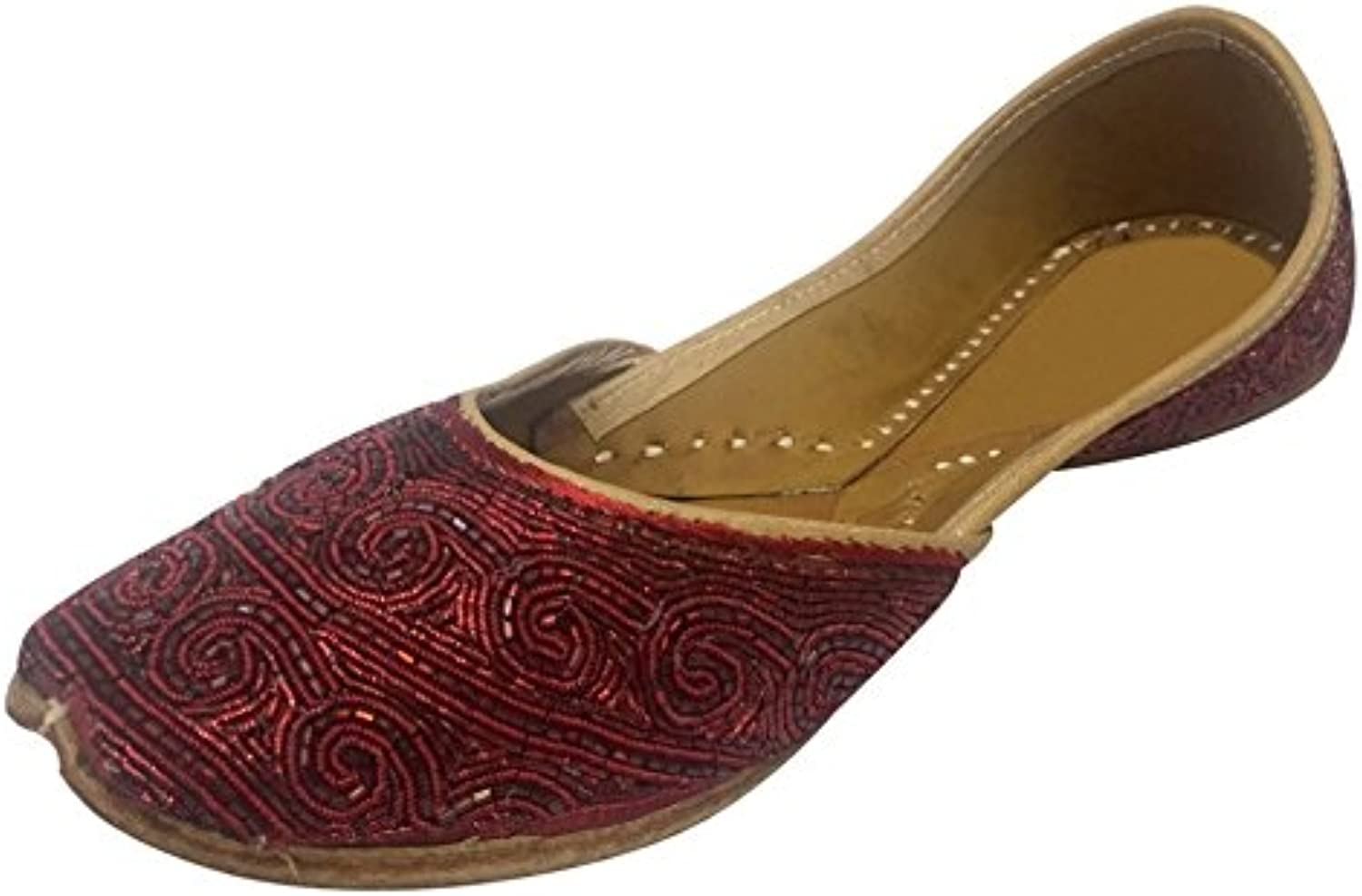 Step n Style Punjabi Jutti shoes Ethnic shoes Beaded Sandals Khussa Wedding Jutti Red