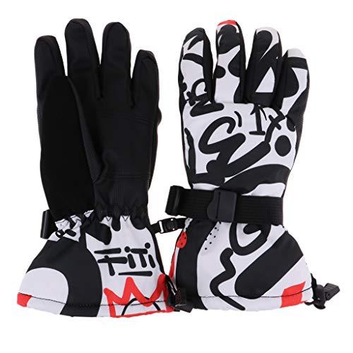 Sharplace Guantes de Dedos Completos Más Cálidos para Patinaje de Snowboard Esquí de Nieve Ciclismo de Carreras - Tipo 6, L