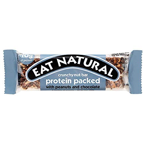 Eat Natural High Protein Peanut & Chocolate Flavoured Gluten Free Fruit & Nut Bars (12 Pack)