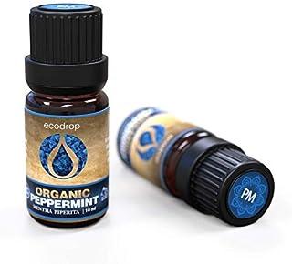 Huile de menthe poivrée, certifiée bio par COSMOS, huile essentielle 100% pure, de qualité thérapeutique pour l'aromathér...