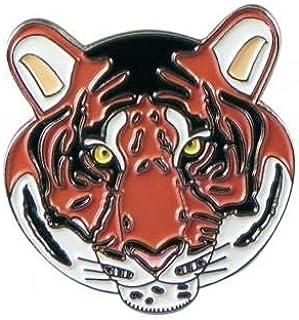 Spilla a forma di tigre con animali dello zoo e spilla