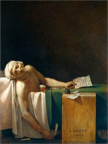 Posterlounge Alubild 70 x 90 cm: Der Tod des Marat von Jacques-Louis David/akg-Images