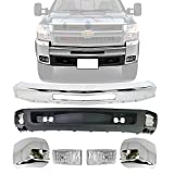 New Front Bumper Chrome Steel + Lower Valance Air...