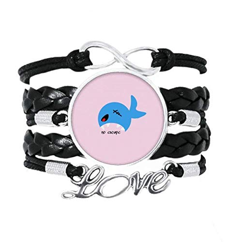 OFFbb-USA Shark Depredadores caza Art Deco regalo pulsera de moda accesorio amor trenzado cuerda de tejer pulsera regalo