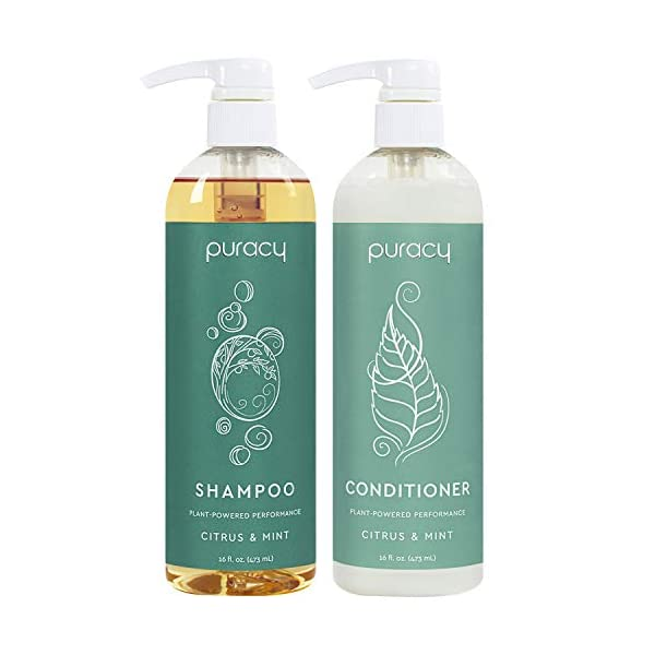Puracy Shampoo and Conditioner Set, Hair Stays Clean and Silky Longer with LexFeel...