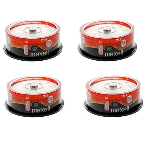 Maxell Digital Audio xl-ii 80Blank Music CD-R–100dischi