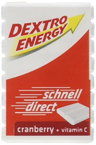 Dextro Energy Traubenzucker mit Cranberry Geschmack | 9 Packungen (9 x 46g) mit je 8 Traubenzucker Würfel | Dextro Würfel im Vorratspack