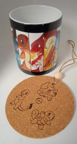 HobbyElx Taza Pokemon Iniciales de Kantho