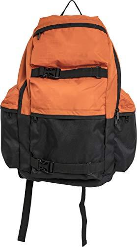 Urban Classics Backpack Colourblocking Zaino Casual, 43 cm, 18,4 liters, Multicolore (vibrantorange/black)