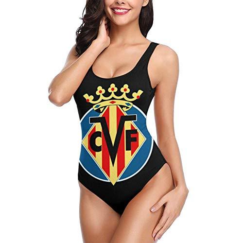 Vill-ARR-EAL CF Football Club Women Bikini Backless Swimwear One-Piece Swimsuit Beach Bathing...