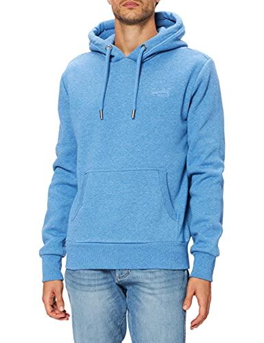 Superdry Mens M2010996A OL Classic Hood, Bright Blue Grit, L