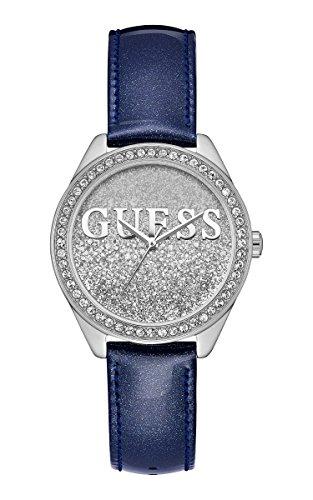 Guess Damen Analog Quarz Uhr mit Leder Armband W0823L13