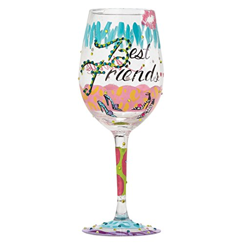 Lolita 4053096 Best Friends Always Wine Glass, Glas, multi