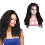 Brazilian Silk Top Lace Front Perruques De Cheveux Humains Kinky Curly Lace Front Human Hair Wigs Pre Plucked Hairline With Baby...