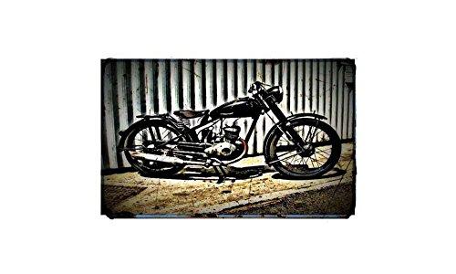 1954 dkw rt125 Fiets Motorfiets A4 Foto Print Retro Verouderde Vintage