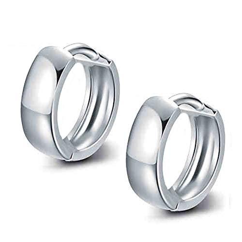 Pendientes de aro pequeños de plata de ley para cartílago de las mujeres, niñas y niñas, joyería de moda de 5 tamaños