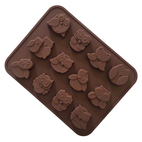 Lingstar Moldes de silicona para chocolate y jabón – molde para bandejas de cubitos de hielo, jabón casero, chocolate, gomita, gelatina, caramelo, pasteles. Juego de 1 (AD107)