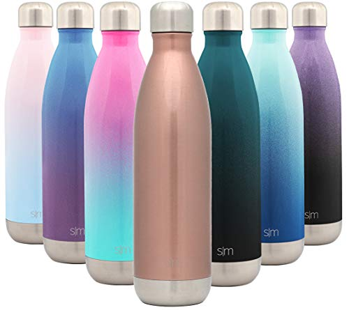 Simple Modern 750 mL (25oz) Wave Trinkflasche - Wasserflasche Thermosflasche Thermoskanne für Sport, Isolierflasche Vakuumisoliert- Doppelwandig- Edelstahl - Geschenke für Kinder, Frauen, und Männer