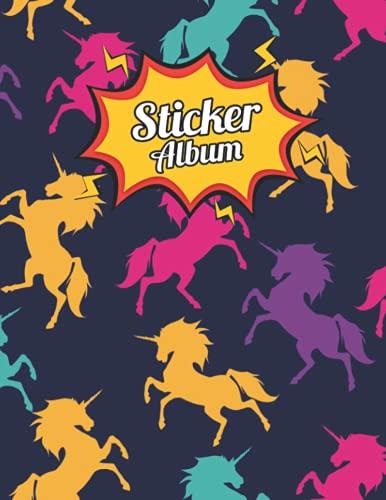 Álbum de pegatinas de unicornio: libro de colección de pegatinas en blanco para niños, libro de colección My First Blank Stickers |...