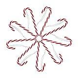 24 Piezas Bastones de Dulce de Navidad,Dulces Muletas Decoración del árbol,Candy Cane...
