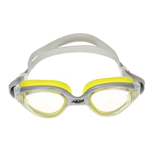 sharprepublic Gafas de Natación de Silicona Antivaho a Prueba de Agua HD Lentes Transparentes - Gris