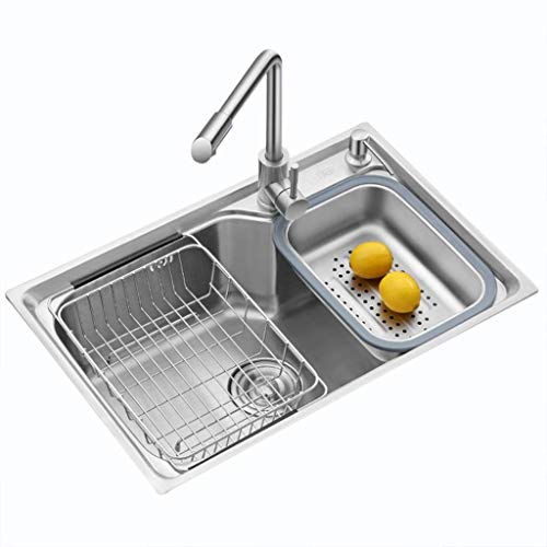 YWTT Accesorios de baño Cocina Fregadero para el hogar Cocina Fregadero de Acero Inoxidable Lavabo Restaurante Piscina Lavaplatos Piscina Vajilla Piscina Utensilios de Cocina Fregadero de una Sol