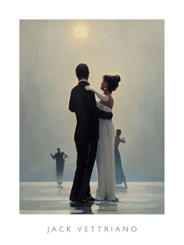 Dance Me to the End of Love Jack Vettriano Romance Couples Dancing Poster, Overall Size: 23.5x31.5, Image Size: 21.75x26