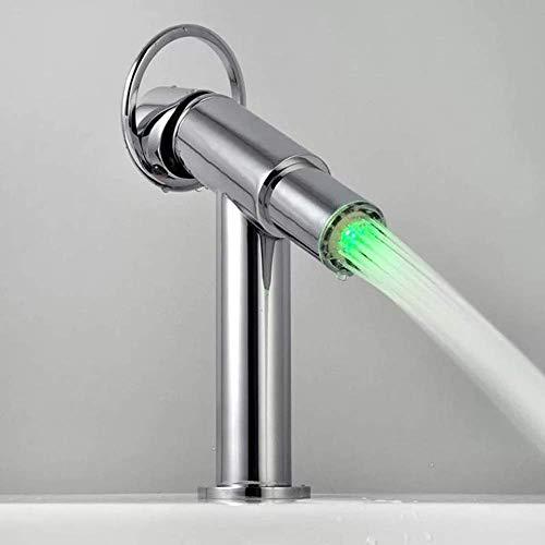 Filtro, Ahorro de Agua, núcleo bucal avanzado, luz LED, Control de Temperatura, Cabezal de Ducha de Color, Grifo, no Hay Salpicaduras, Bien Hecho