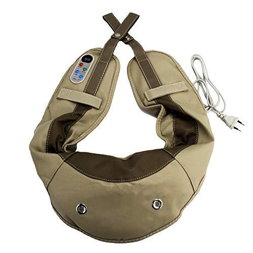 @tec Klopfmassagegerät, Nacken- Schultern- Rücken- Ober- und Unterschenkel, Massagegürtel/Massageband mit 2 Massageköpfe, 12 Intensitätsstufen, 39 Massagevarianten zur Lockerung von Muskelverspannung