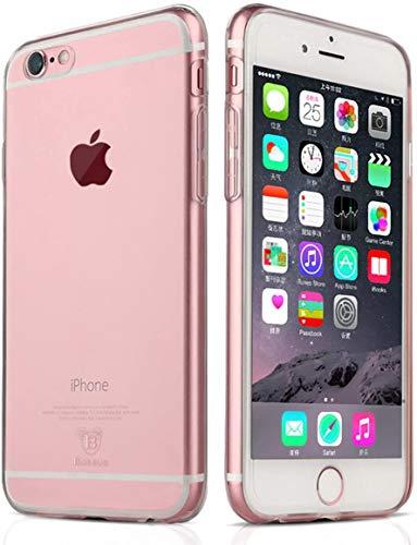 NEW'C Cover Compatibile con iPhone 6 Plus e iPhone 6s Plus, Custodia Gel Trasparente Morbida Silicone Sottile TPU [Ultra Leggera e Chiaro]