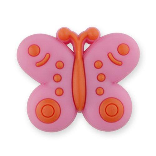 MyGrips GM-13 Kindermöbel Knopf Schmetterling Türknopf/nauf, rosa