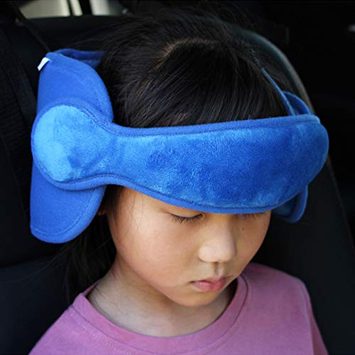 StoHua Adjustable Child Car Seat Head Support Band, Head Support A Comfortable Safe Sleep Solution,Blue Head Support Belt