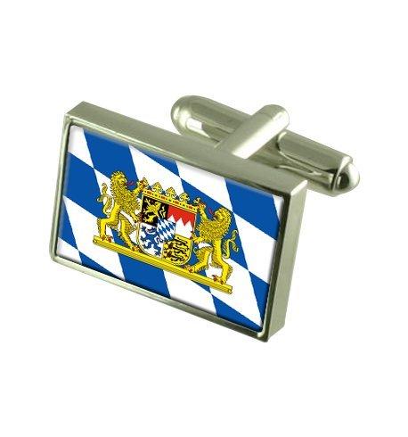 Select Gifts Bayern Zivil Landesflagge Manschettenknöpfe mit Tasche Geschenke auswählen