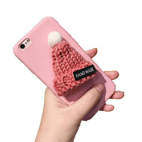 3D Sombrero de Piel Cálida Bola Teléfono de Silicona Negro Caso para Samsung Galaxy S8 S7 S6 edge plus Nota 8 J530 J730 J5 Cubierta de la Bolsa