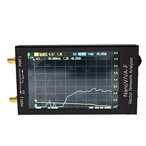 Mcbazel Surecom 4.3インチIPS LCD 50k-1.5GHz NanoVNA VNA NANOVNA-F HF VHF UHFアルミニウムハウジングベクトルネットワークアナライザー アンテナアナライザー