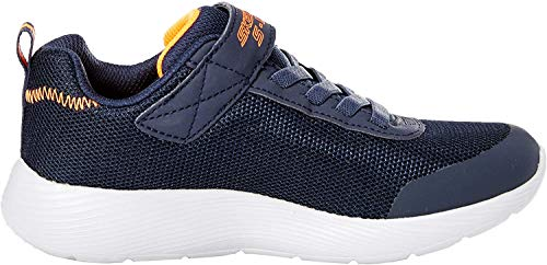 Skechers Jungen Dyna-lights Sneaker, Blau (Navy Mesh/Orange Trim Nvor), 32 EU