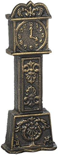 Design Toscano SP885 Tirelire en Fonte Le Temps C'est de l'argent Horloge de Grand-Père, Multicolore, 5 x 9 x 24 cm