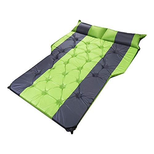 Colchón de aire para acampar en automóvil, colchón inflable para automóvil, cama de viaje en automóvil, cama flotante, cama de soplado automático para viajes, camping, vacaciones, se adapta a SUV