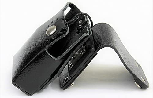 Heavy Duty Leather Case Holster with Full Metal Quick Disconnect Swivel for Vertex Radio VX product image