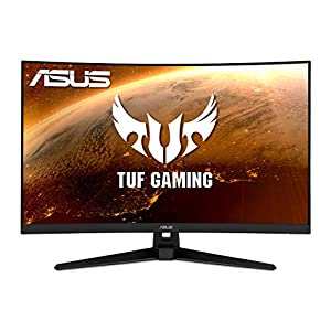 """ASUS TUF Gaming 32"""" 2K HDR Curved Monitor (VG32VQ1B) - WQHD (2560 x 1440), 165Hz (Supports 144Hz), 1..."""""""