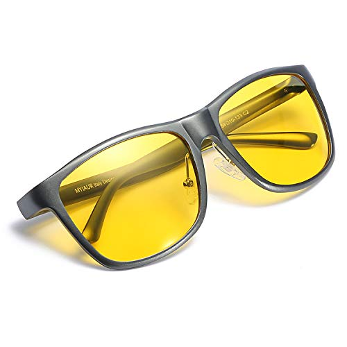 Myiaur Night Vision Glasses for Driving Unbreakable Yellow Polarized Lens Anti-glare...